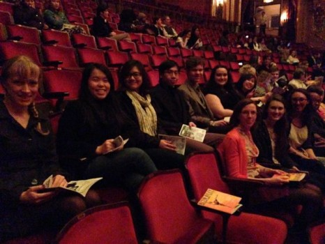 AMS students at the Stanley Theater.