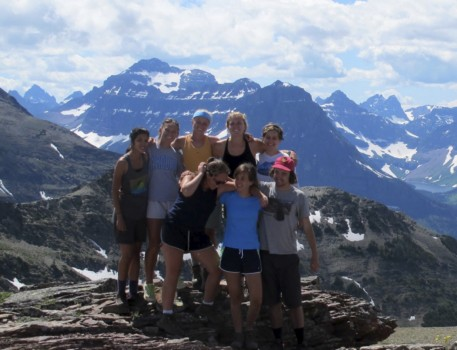 Posing for a picture at Scenic Point near Two Medicine in Glacier Park.