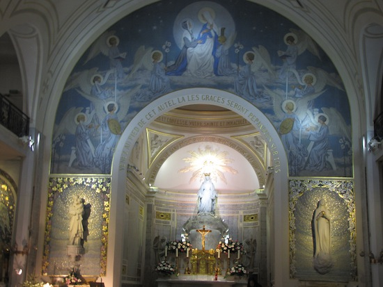 Chapel at Rue du Bac, Paris, where Mary appeared to St. Catherina Laboure with the image of the Miraculous Medal.