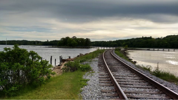 Railroad tracks in Wiscasset, Maine
