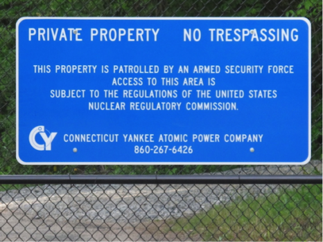 The former site of the Connecticut Yankee Nuclear Plant in Haddam, Connecticut