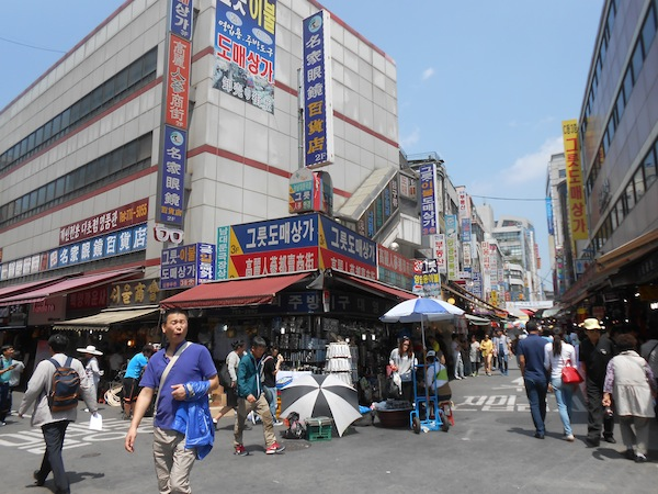 A street market in South Korea.