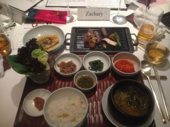 One of our last meals in Korea
