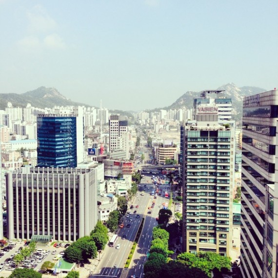 Seoul, South Korea: a city and country hidden in the mountains.