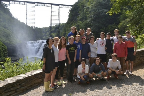 Class of 2018 Benton Scholars visit Letchworth State Park near Mt. Morris, NY during Benton Scholars Orientation, 2014.