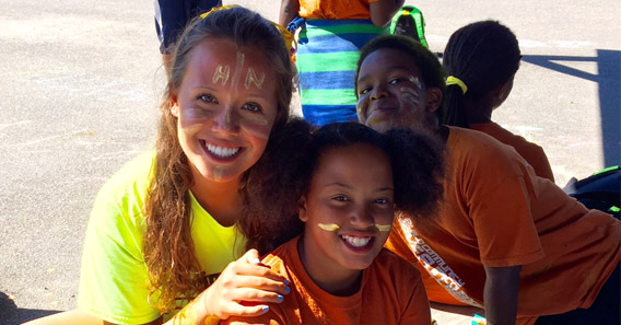 Sally Langan '17 worked with children from at-risk neighborhoods in Boston