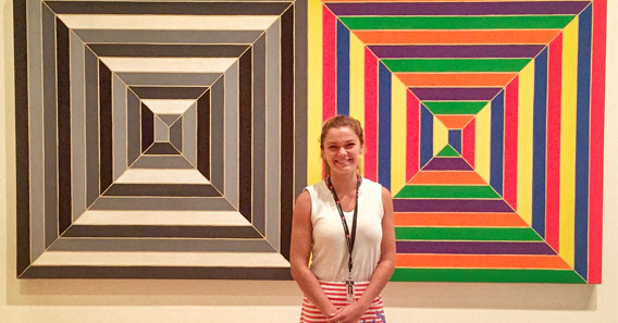 Emma Walsch '17 worked with Contemporary Art in Boston