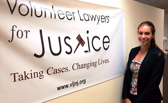 Joanna Howe '16 is interning at Volunteer Lawyers for Justice in Newark, N.J.