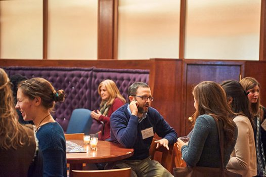 Professor Ryan Solomon shares insights from his service learning course with recent alumni.