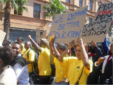 Human rights activists in South Africa.