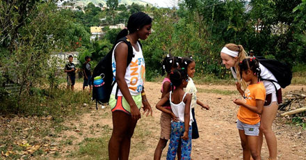 Learning at Colgate does not stop when students go on break. Students volunteer in the Dominican Republic on a recent spring break.