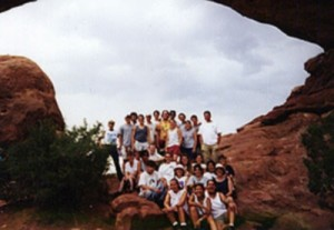 The group at Arches National Park