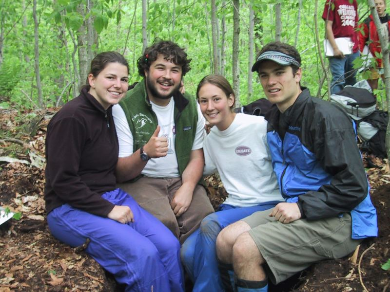 Emily Constantine, Evan Goldstein, Emily Toffic and Drew Koff Soil pits just don't get any better than this!