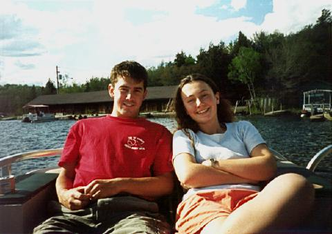 Students in a small vessel on Lake Ontario