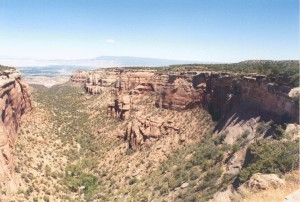 Colorado National Monument - looking northwest toward the Colorado River Valley and Grand Junction/Fruita area.