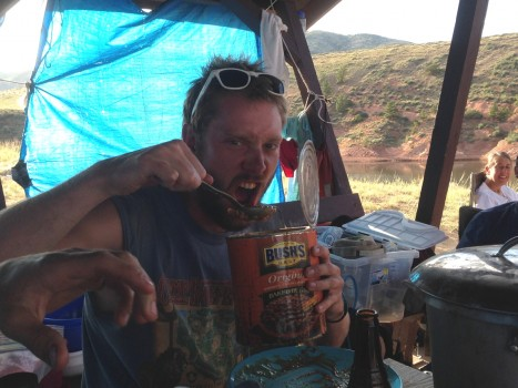 Kevin Varga certainly agrees... Nothing like a good meal after a hard day in the field.