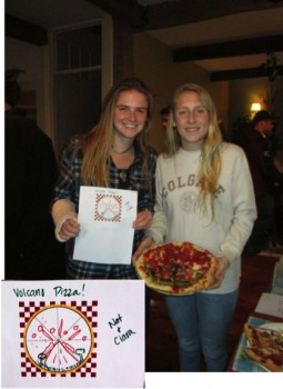 Ciara Pettinos & Natalie Smith had a blast making their Volcano Pizza (pardon the pun)