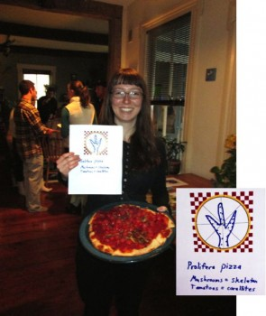 Shannon Dillon's pizza tribute to her senior research on corals