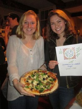 Glenna Thomas & Kate Hardock with their Leonardo Di Caprio's Plight Pizza