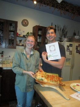 Glenna & Oleg and the cooked Subduction Calzone
