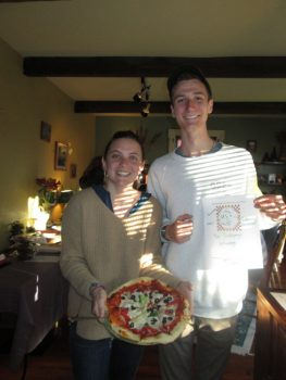 Hannah & Jake present their pizza