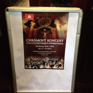 Concert Poster in Bratislava