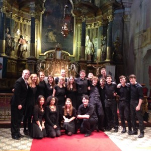 The Chamber Singers in St. Michael's Church, Budapest