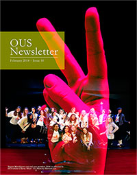Cover of the February OUS Newsletter