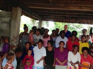 Greg Casagrande celebrates Colgate Day with inspiring women micro-entrepreneurs on Guadalcanal.