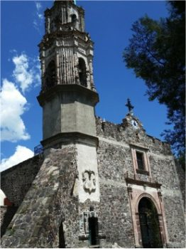 Figure 1: A view of the Church in Xaltocan, Mexico.