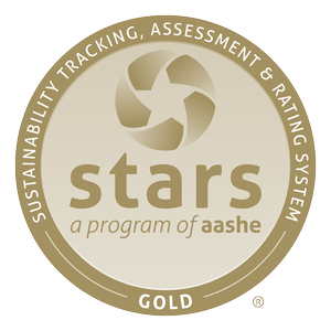 "Colgate received a ""Gold"" rating from AASHE in 2014."