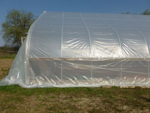 Greenhouse with new covering