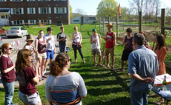 Party gathers to plant the Colgate Community Garden