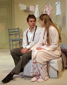 Ben Mandell '14 and Charlotte Arbogast '16 in A Dreamplay