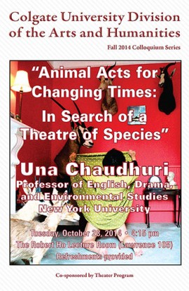 Poster for Professor Chaudhuri's lecture