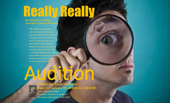 Really Really audition poster