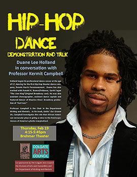 Hip-hop dance poster