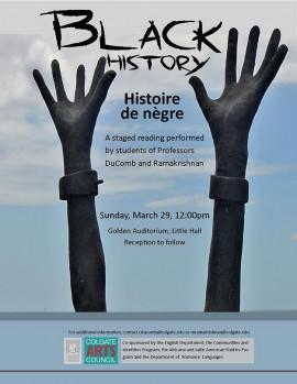 Black History (Histoire de nègre) Poster