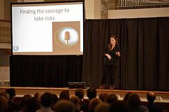 Sarah Stewart '04 at Colgate University