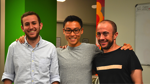 The Chicory team, from left: Joey Petracca, COO; Yuni Sameshima, CEO; Adam Donahue, CTO Chicory