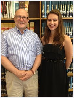 Jay Dunn, Director of Madison County Literacy Coaltion, and Jayne Tamboia '13