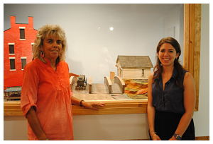 Jessica Planamento, '12, and Joan Prindle from the Hamilton Historic Commission
