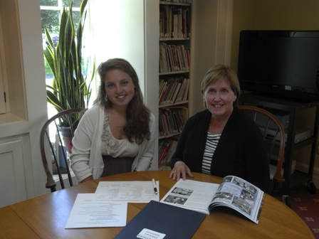 Hannah Sosland, Upstate Field School Fellow, with Helen Stepowany of Pathfinder Village