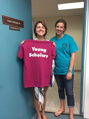 Emily Hawkins '15 and Sarah Wooton '15 are building capacity with the Young Scholars Program at Utica College this summer.