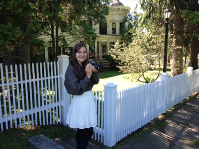 Emily Luba, '16, provides photos for the Horned Dorset Colony in Leonardsville