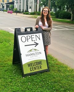 Alex Marrone '16 is working with the Partnership for Community Development in Hamilton this summer.