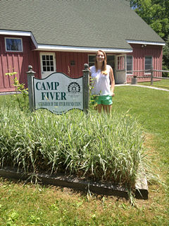 Alex Maulden researching sustainable energy at Camp Fiver this summer.