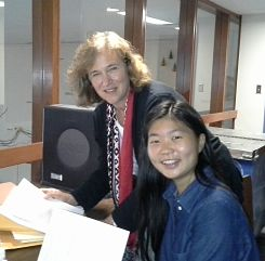 O.T. Tang and Susan Conn at the Utica office of the Legal Aid Society of Mid New York