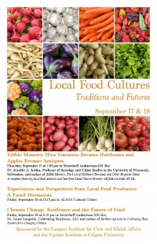 Local Food Culture Poster
