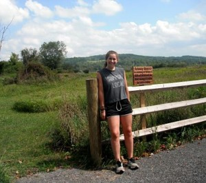 Anna McHugh '17 at the Gateway Reserve